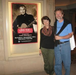 John Prine Concert poster outside the Orpheum Theater