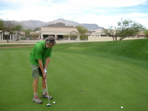Golfing on St Patrick's Day