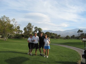 The Dycks and Nikkels at Rancho Mirage Country Club