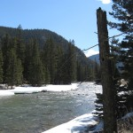 Fast-running streams in Big Sky, Montana