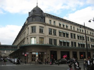 Le Bon Marche -- some of the most upscale shopping you can find in Paris.