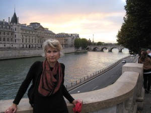 Sue beside the Seine