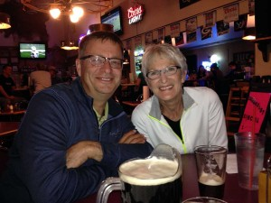 Ed and Val at the Hitching Post