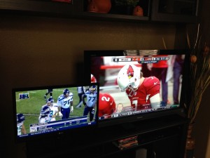 Two TVs - NFL Sunday