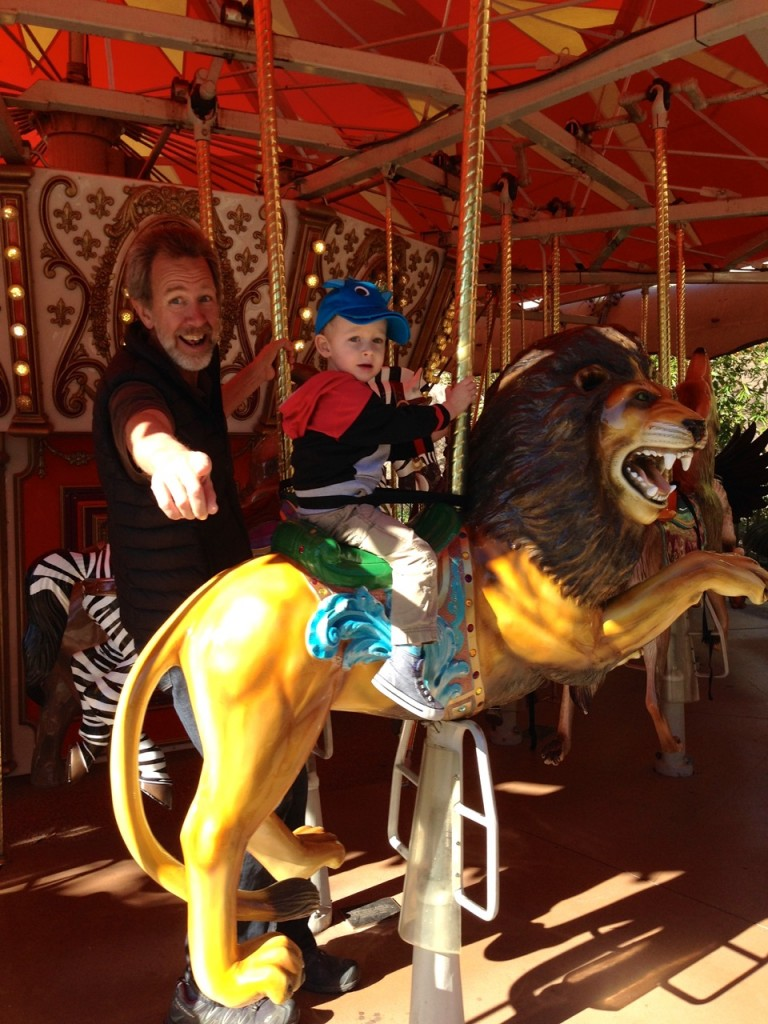 Rudy and Max on the Merry-Go-Round