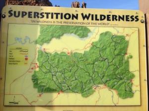 Superstition Wilderness Map