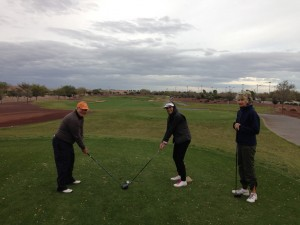Ed, Jessie, and Sue at Poston Butte Golf