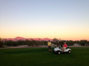 Ed and Val at the Apache Creek Golf Course
