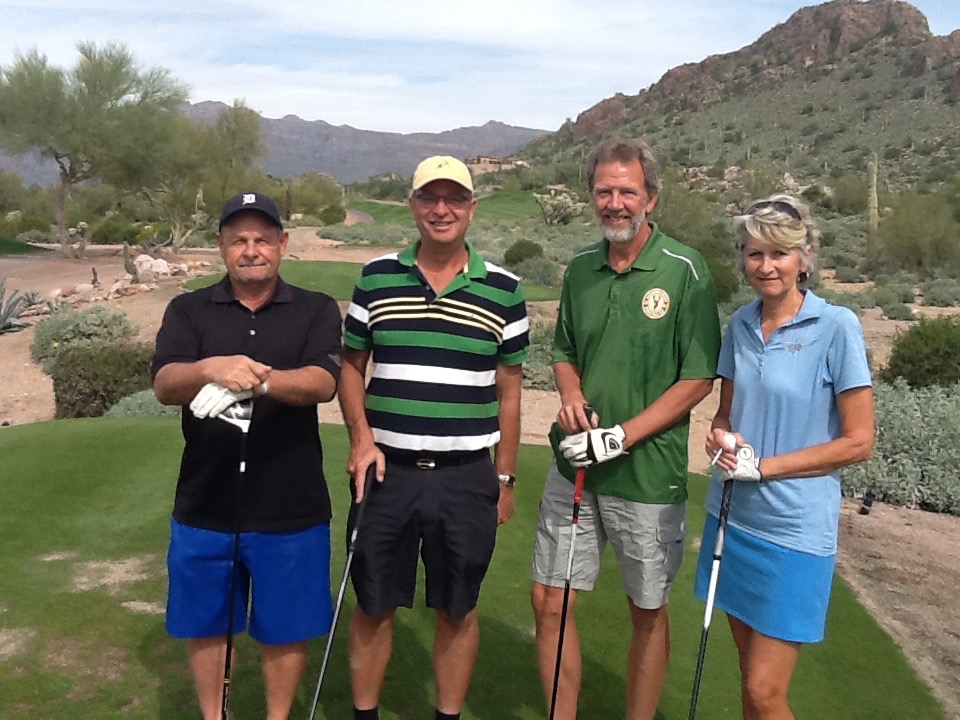 Dave, Ed, Rudy, and Sue -- at Dinosaur