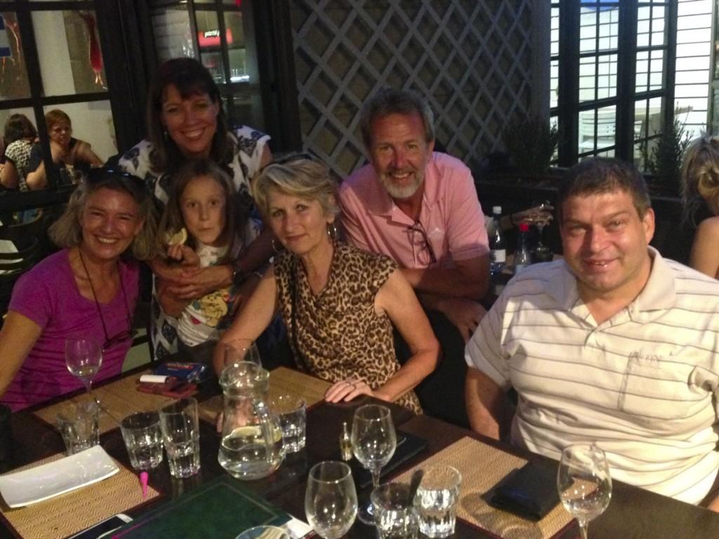 Carol, Marina and Emma, Sue, Rudy, and Rohann