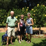 Robert, Arlene, and Sue in the Company Gardens