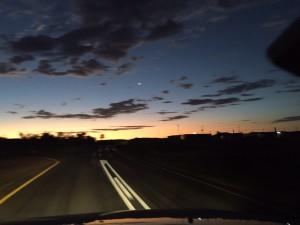Driving to Windhoek