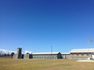The prison at Robben Island