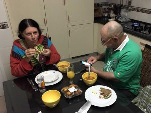 Marylou and Dave at supper