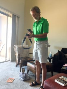 New golf shorts for Rudy!