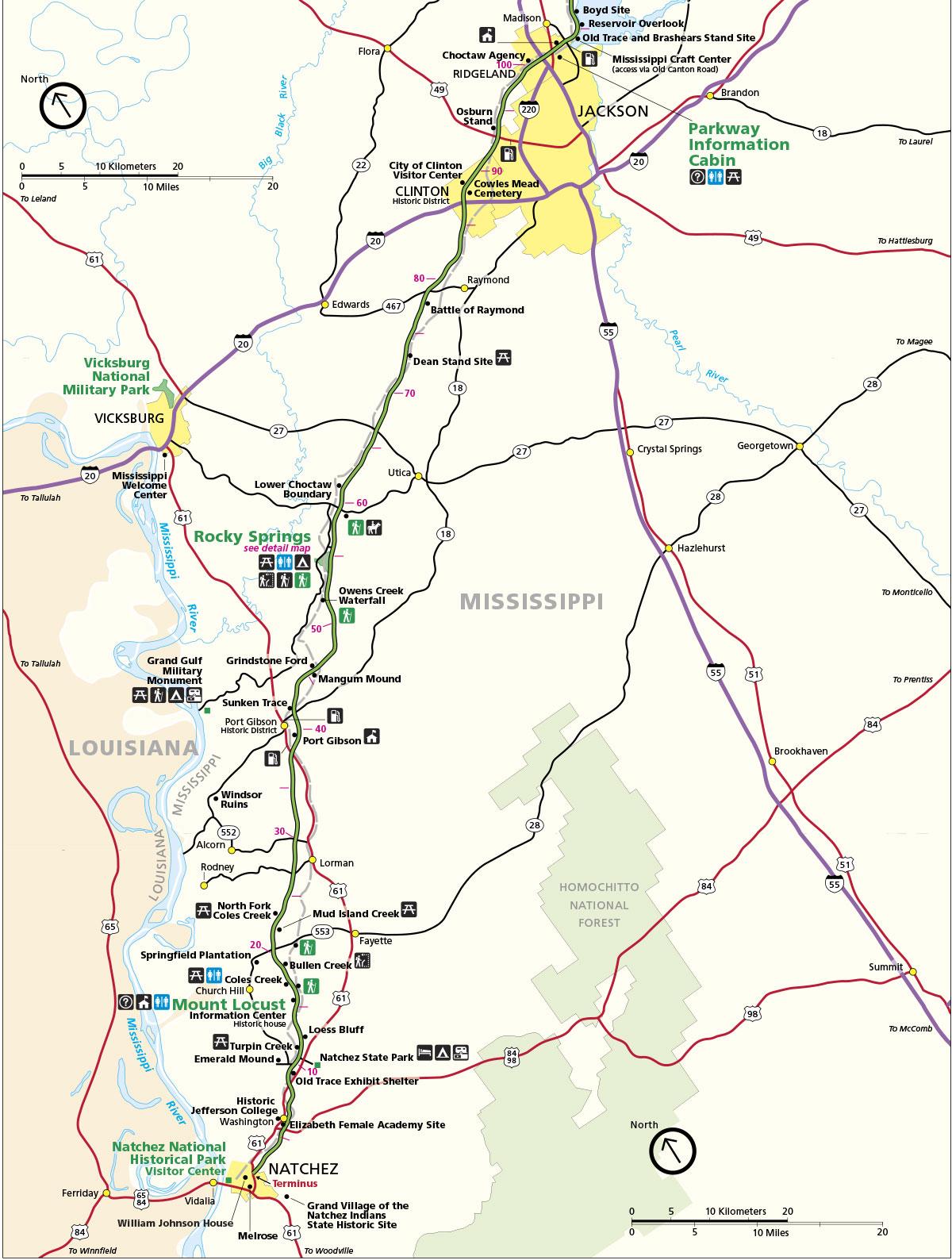 Jackson to Natchez (milepost-1-113)