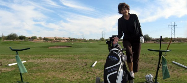 Sue's new golf clubs