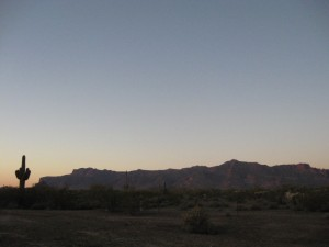 Sunset at Superstition Mountain