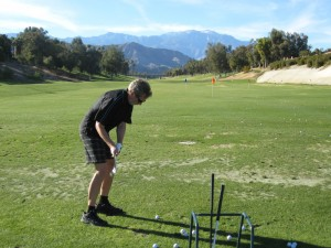 Rudy at the Chaparral Driving Range