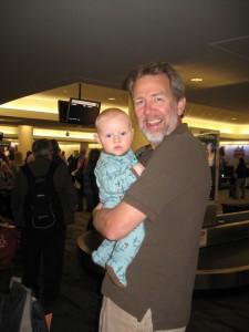 Max and Rudy at airport