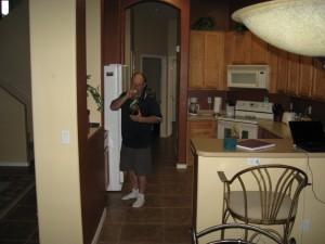 Dave in kitchen.