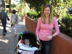 Max and Alex on El Paseo -- the shopping street here in Palm Desert.