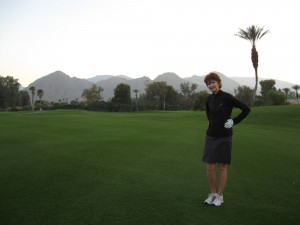 Golfing at Palm Desert Country Club.
