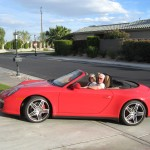 Jim and Bonny in the Porsche