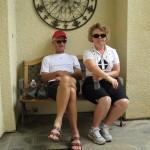 Robert and Arlene after the walk