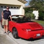 Rudy next to the Porsche