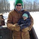 Tim and Max sleigh ride