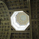 Ornate ceiling at Fontainebleau