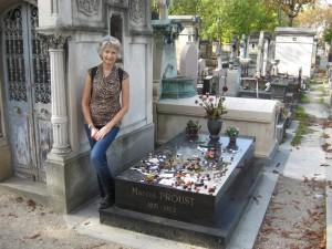 Marcel Proust's grave at Père Lachaise Cemetery.