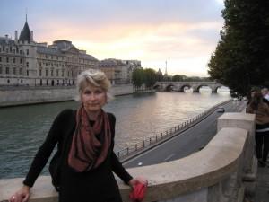 Sue beside the Seine
