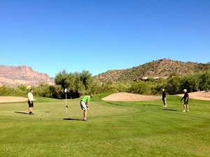 Golfing at Sidewinder