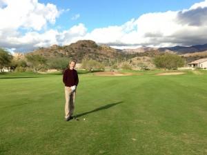 Sunshine! Beautiful weather for golfing the back nine.