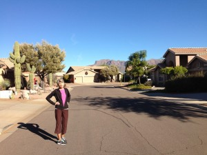 going for a walk with Sue
