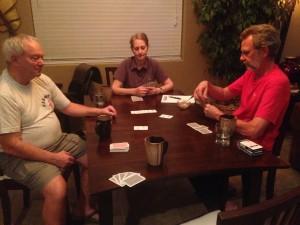 Bridge game with Ed, Jessie, and Rudy