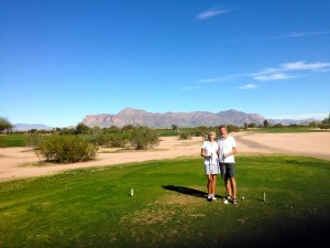 Sue and Rudy at the Apache Creek Golf Course