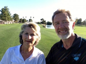 Sue and Rudy selfie at Queen Creek Golf Club