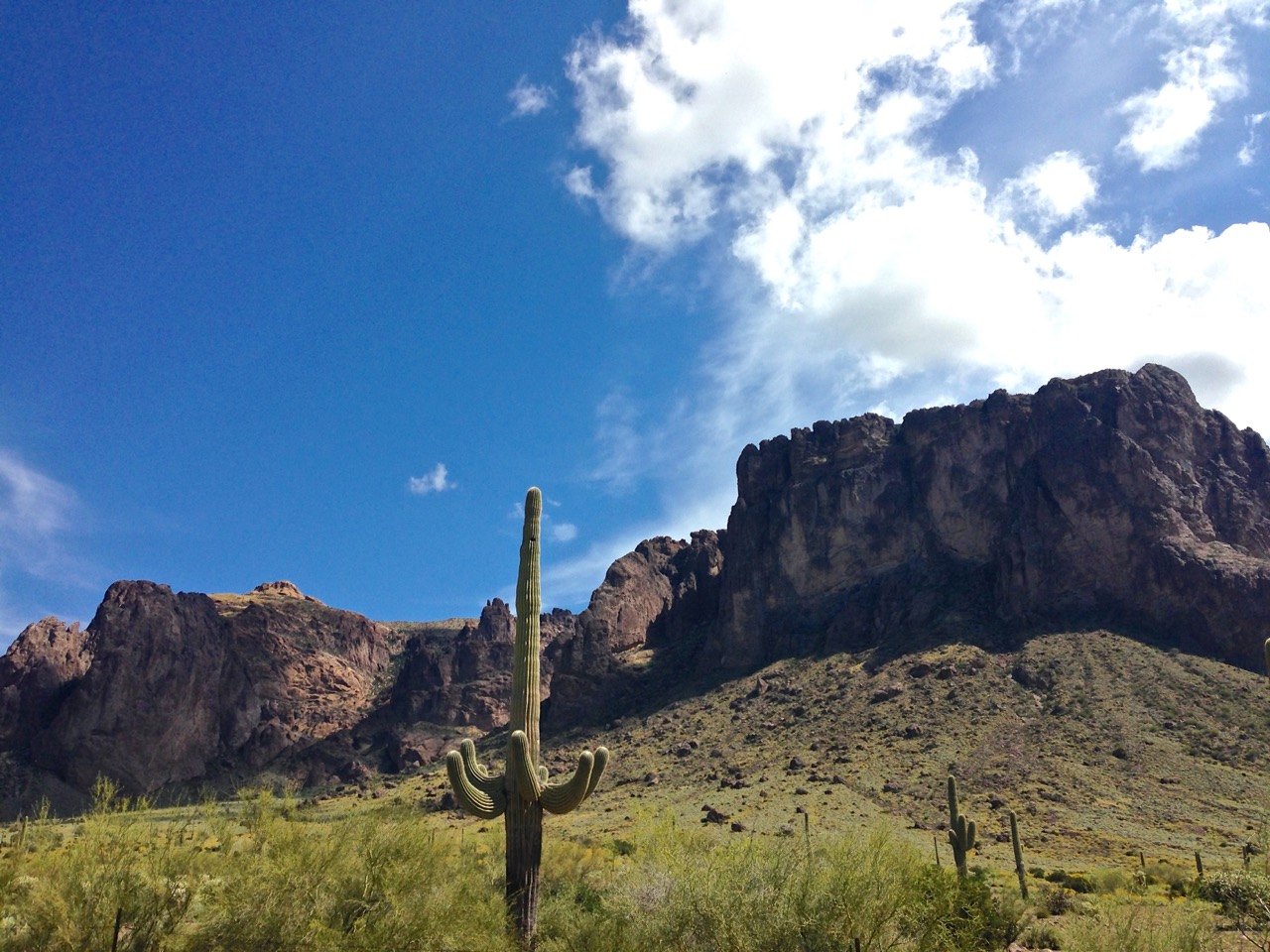 View of Superstition Mountain