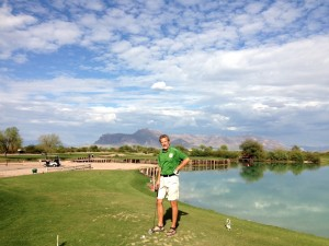 Rudy golfing