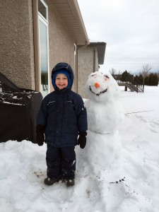 Max and a Snowman
