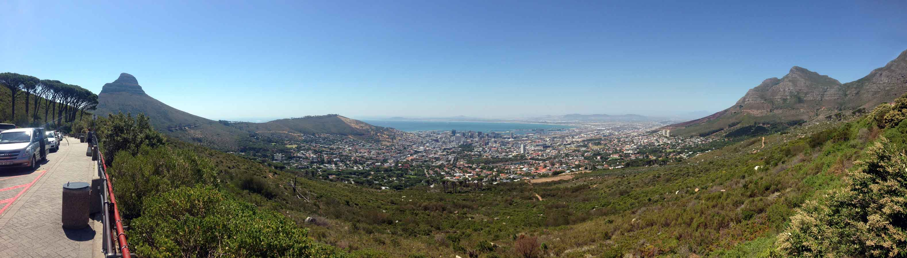 Panorama of Cape Town from Table Mountain