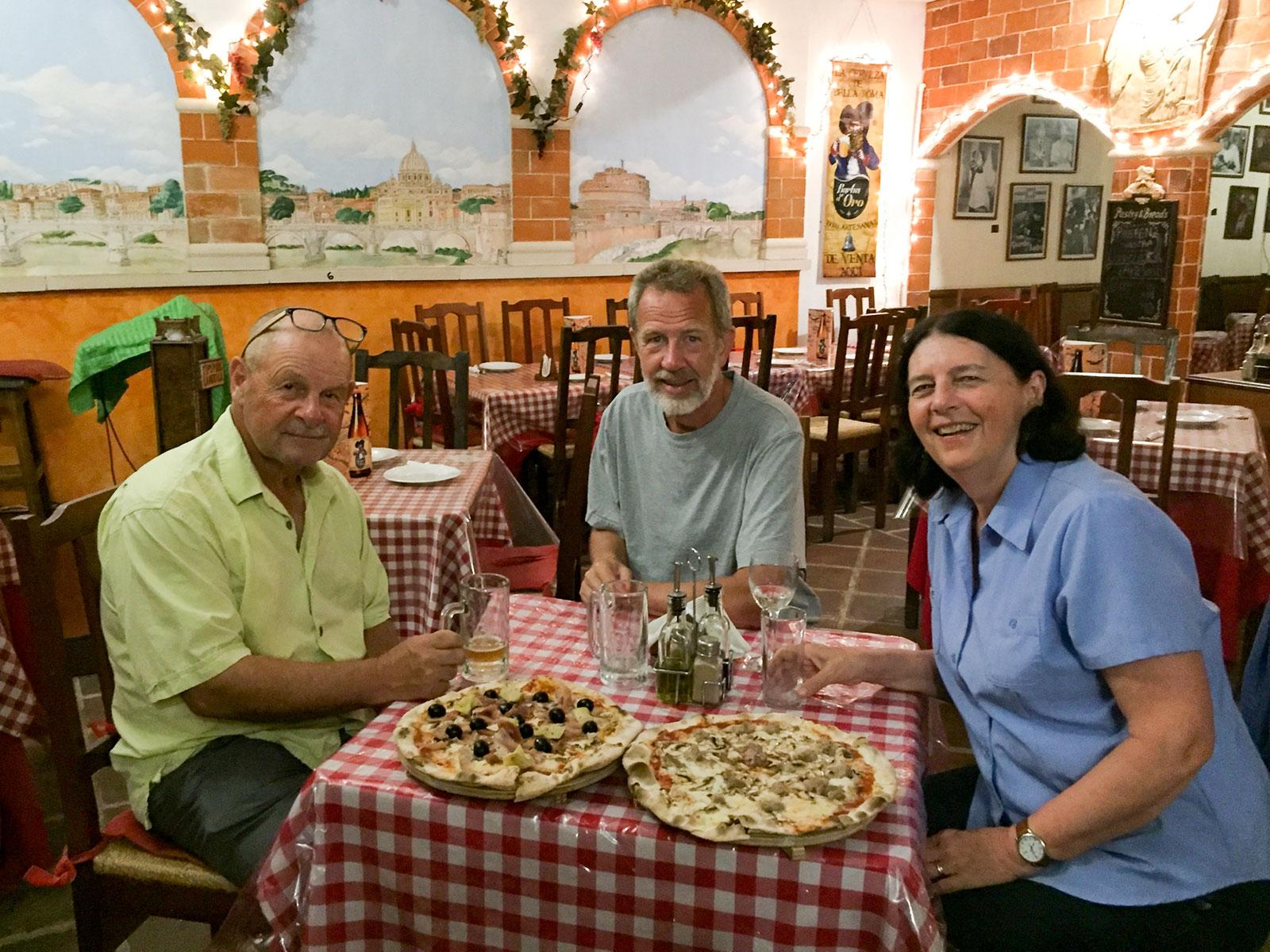 Dave, Rudy, and MaryLou at Bella Roma